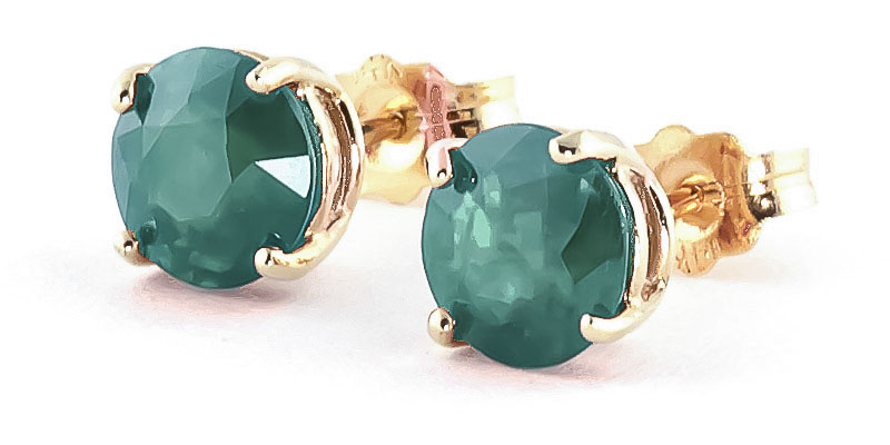 Emerald Stud Earrings 3.3 ctw in 9ct Gold