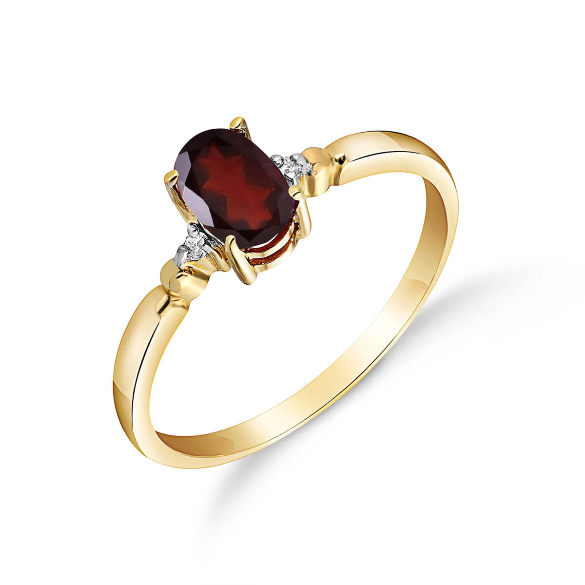 Garnet & Diamond Allure Ring in 18ct Gold