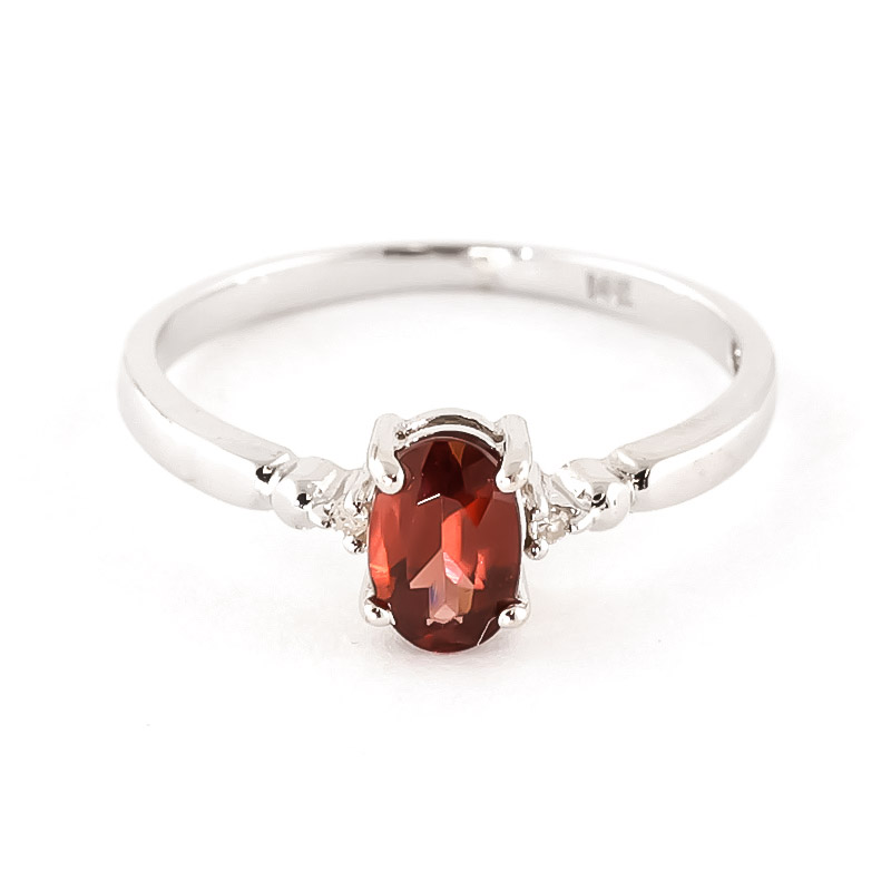 Garnet & Diamond Allure Ring in 18ct White Gold