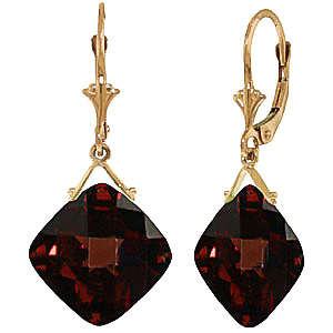 Garnet Deflection Drop Earrings 17.5 ctw in 9ct Gold