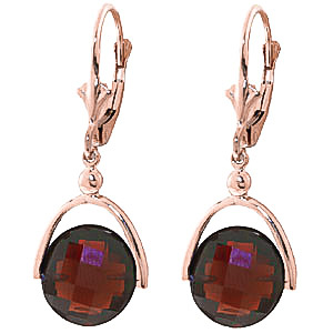Garnet Drop Earrings 8.4 ctw in 9ct Rose Gold