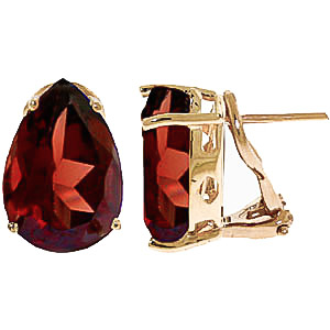Garnet Droplet Stud Earrings 10 ctw in 9ct Gold