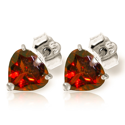 Garnet Stud Earrings 3.25 ctw in 9ct White Gold
