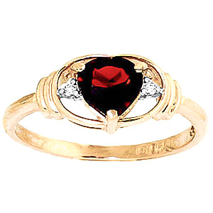 Garnet and Diamond Ring 0.9ct in 9ct Gold