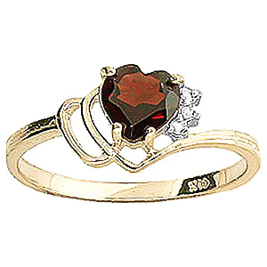 Garnet and Diamond Passion Ring 0.9ct in 9ct Gold