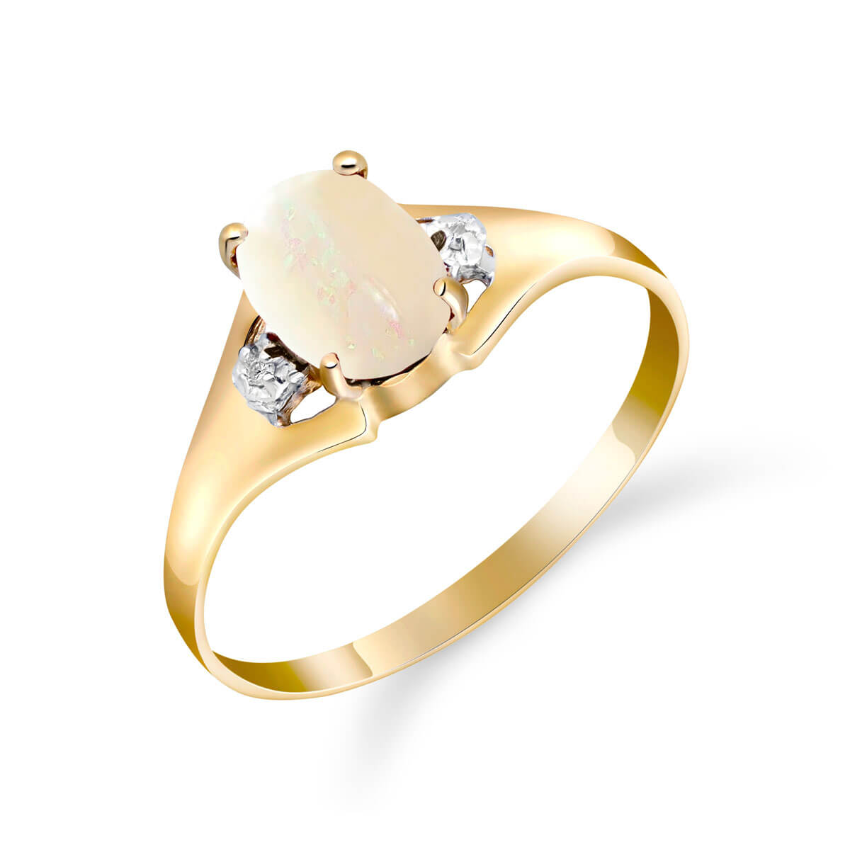 Opal & Diamond Desire Ring in 9ct Gold
