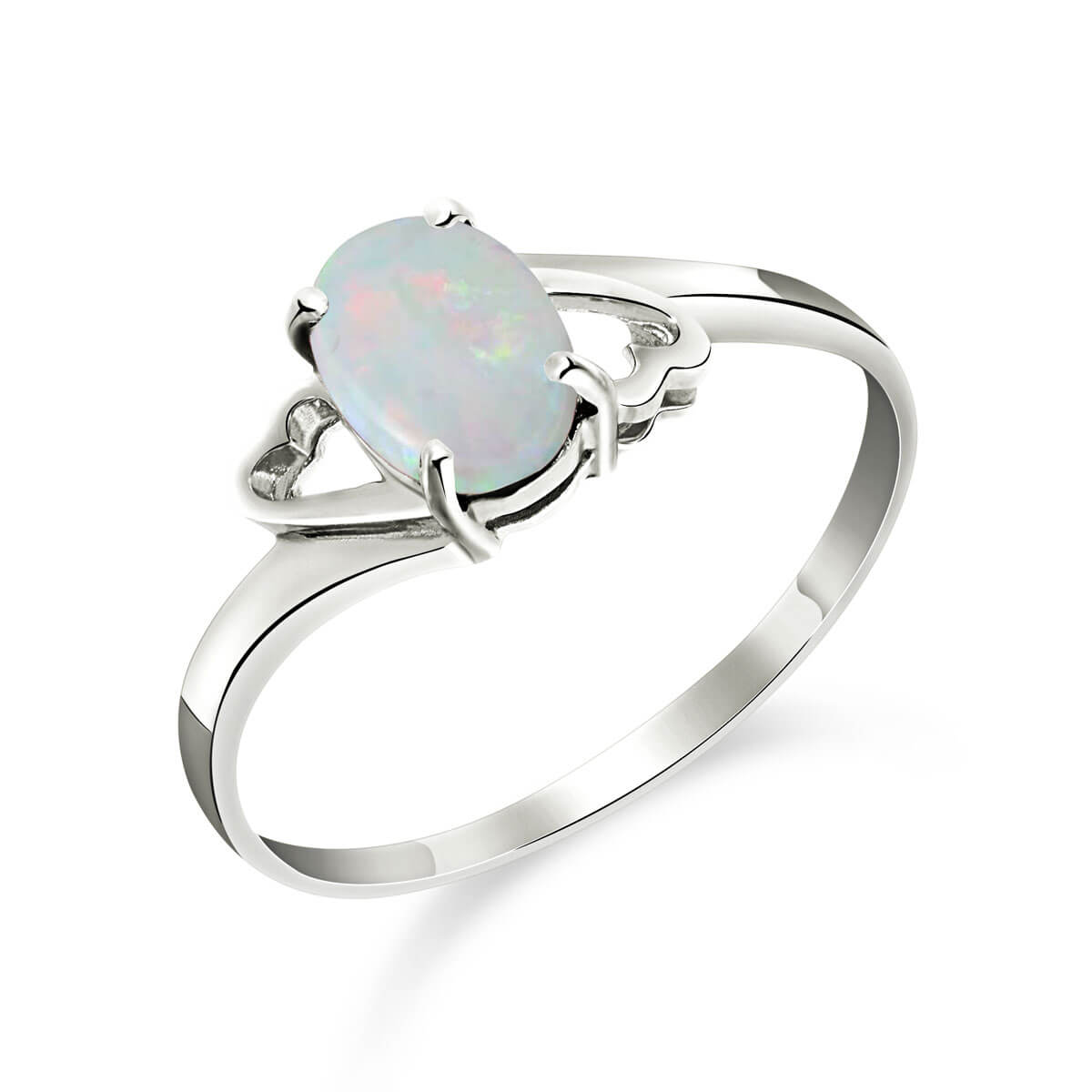 Opal Classic Desire Ring 0.45 ct in 9ct White Gold