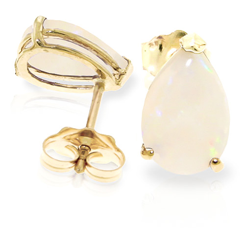 Opal Stud Earrings 1.55 ctw in 9ct Gold