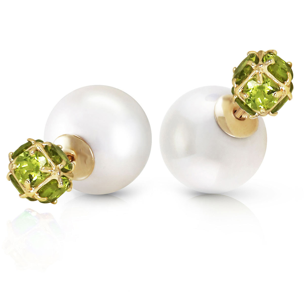 Pearl Double Shell Stud Earrings 69.2 ctw in 9ct Gold
