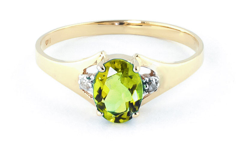 Peridot & Diamond Desire Ring in 18ct Gold