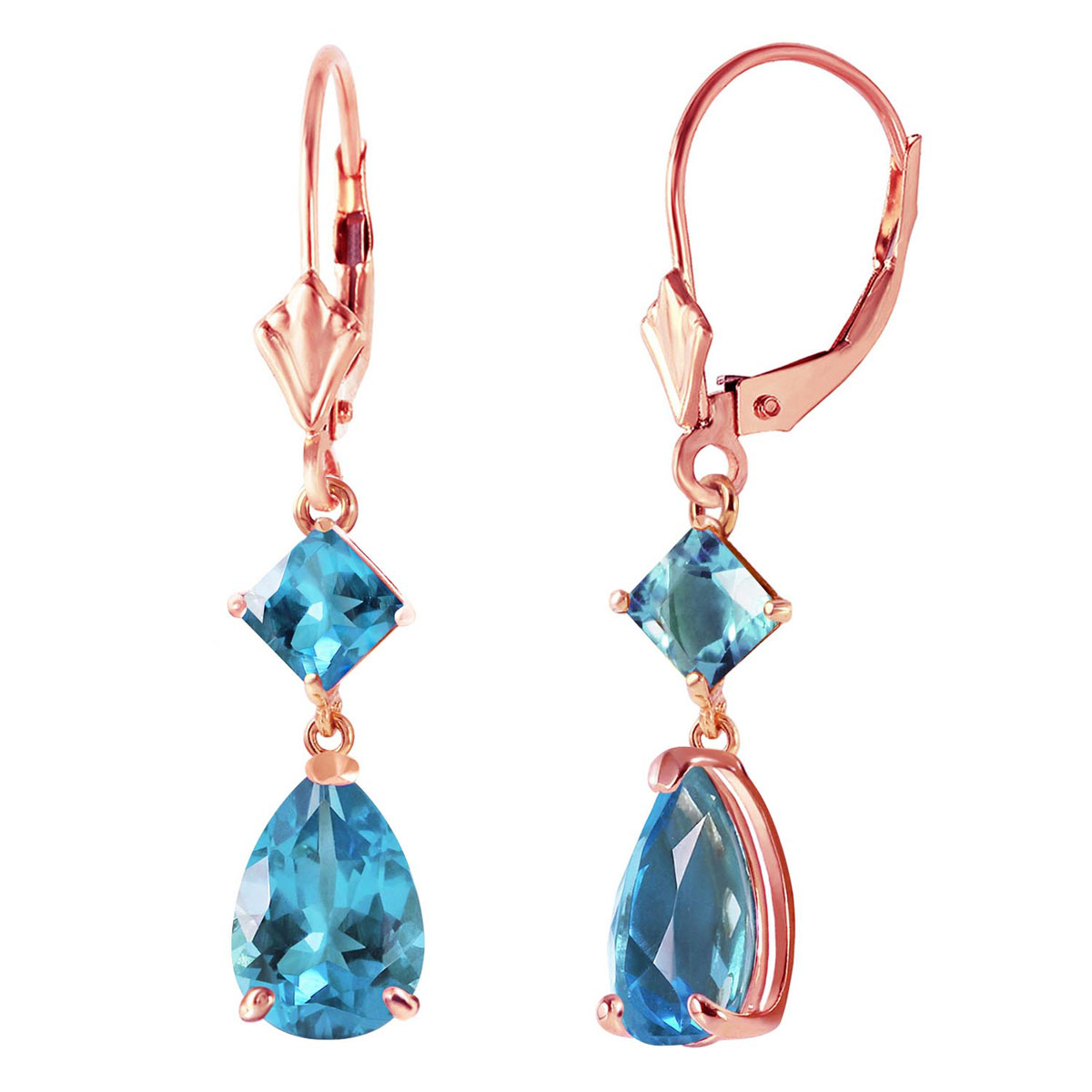 Peridot Droplet Earrings 4.5 ctw in 9ct Rose Gold