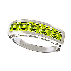 Peridot Prestige Ring 2.25 ctw in 9ct White Gold