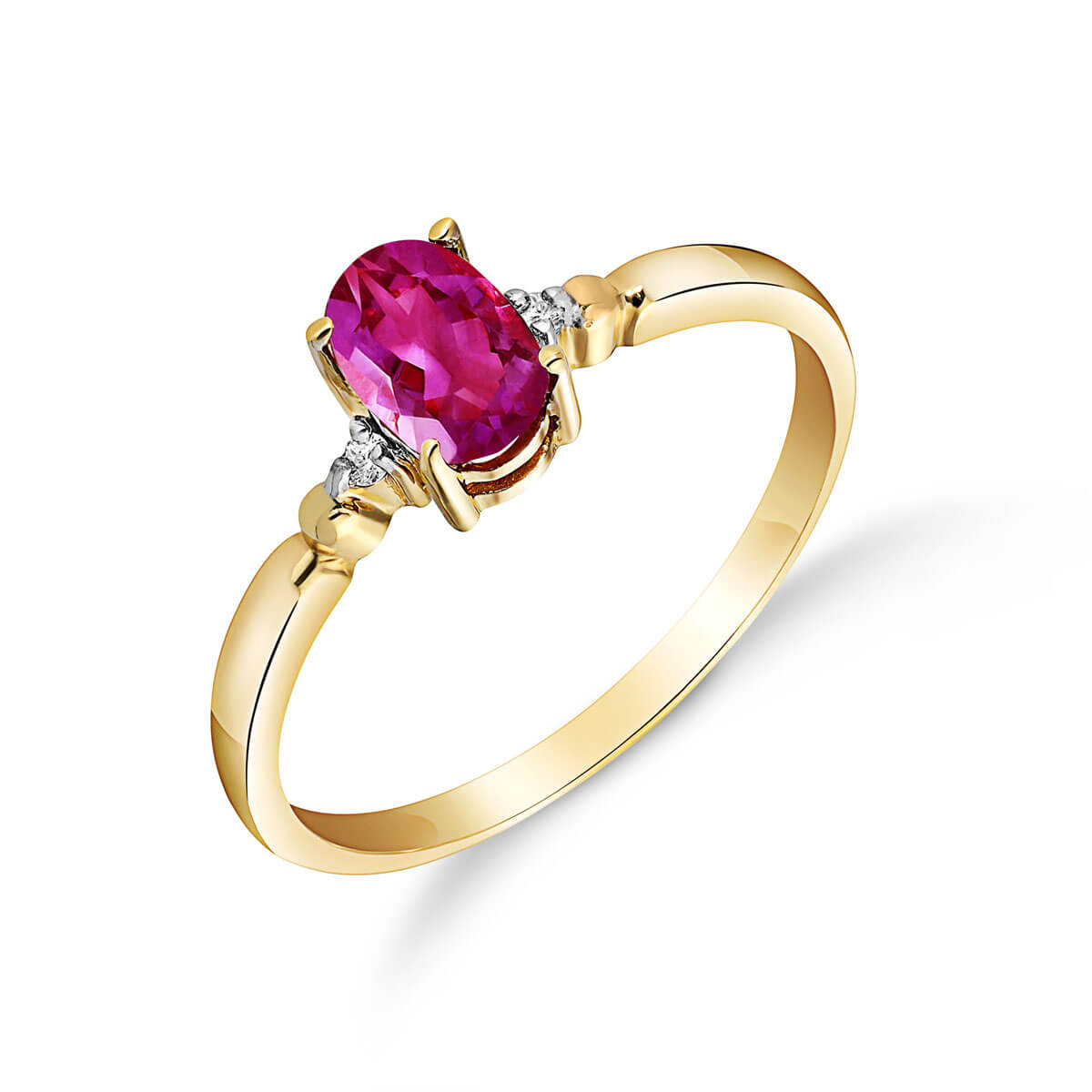 Pink Topaz & Diamond Allure Ring in 18ct Gold