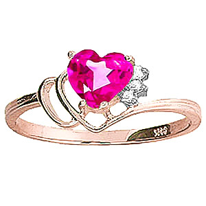 Pink Topaz & Diamond Passion Ring in 9ct Rose Gold