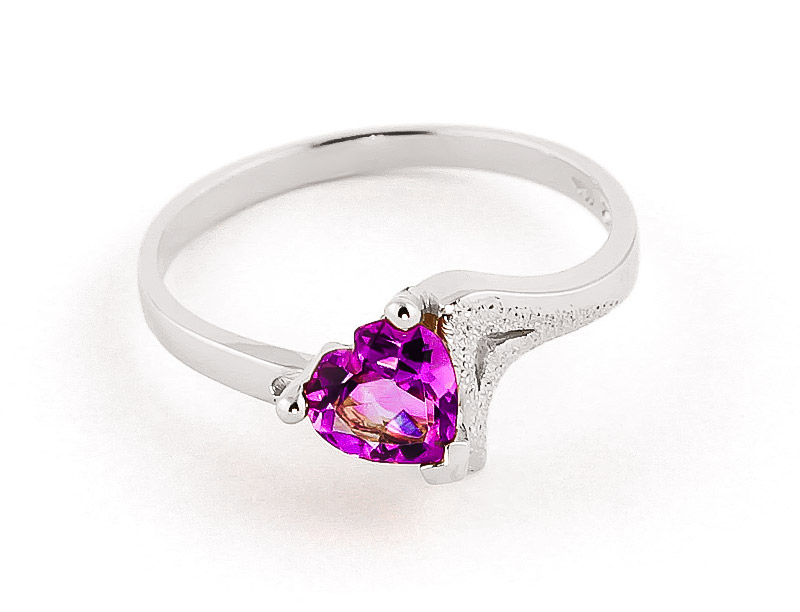 Pink Topaz Devotion Ring 0.95 ct in 9ct White Gold