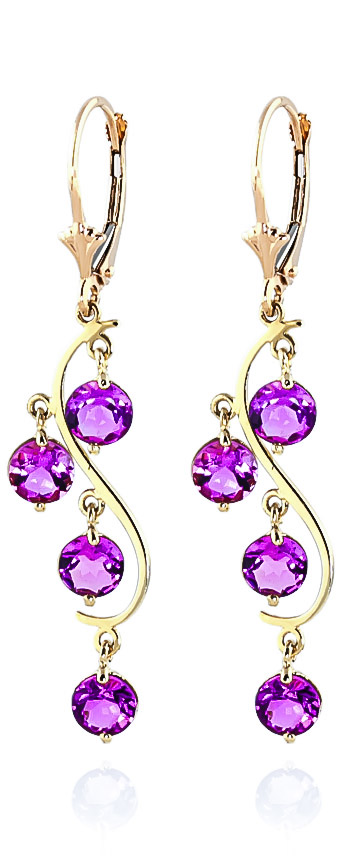 Pink Topaz Dream Catcher Drop Earrings 4.95 ctw in 9ct Gold