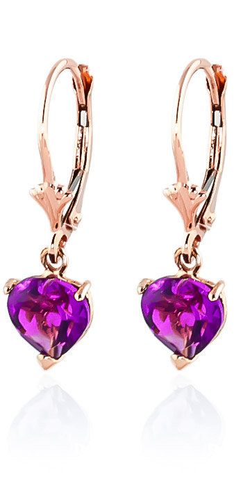 Pink Topaz Drop Earrings 3.25 ctw in 9ct Rose Gold