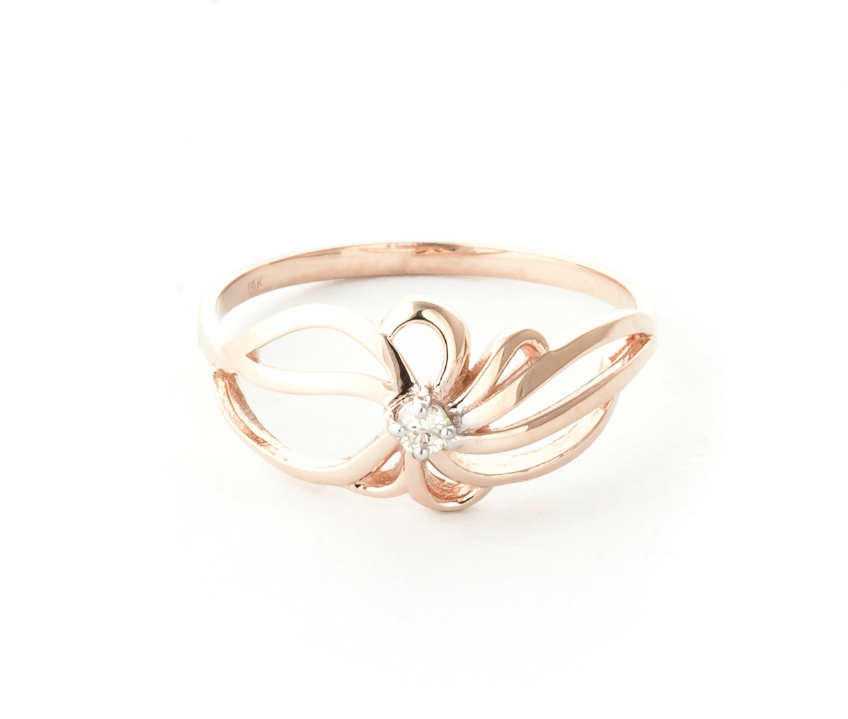 Round Cut Diamond Ring 0.05 ct in 18ct Rose Gold