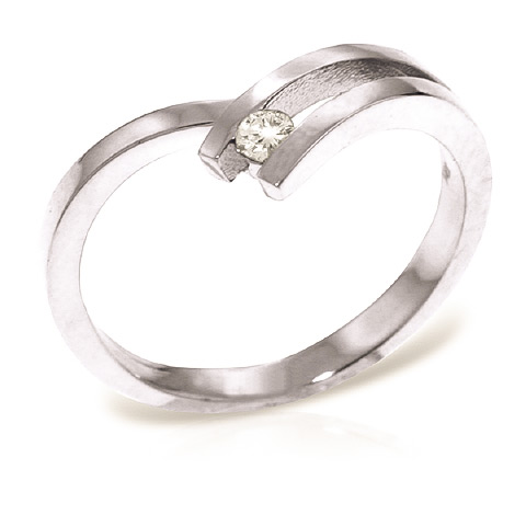 Round Cut Diamond Ring 0.1 ct in 18ct White Gold