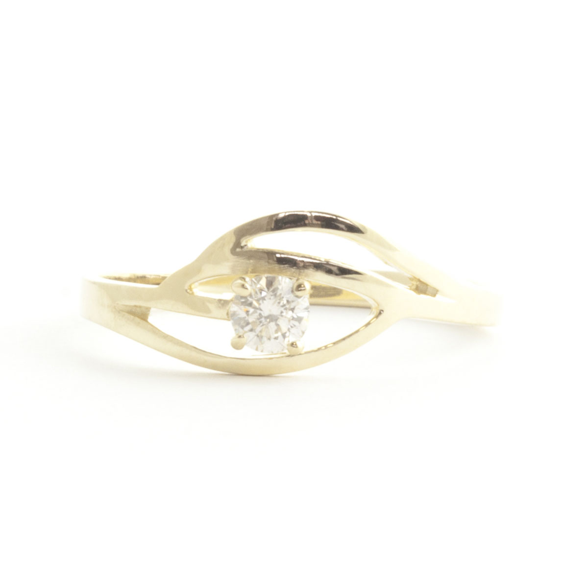 Round Cut Diamond Ring 0.15 ct in 18ct Gold