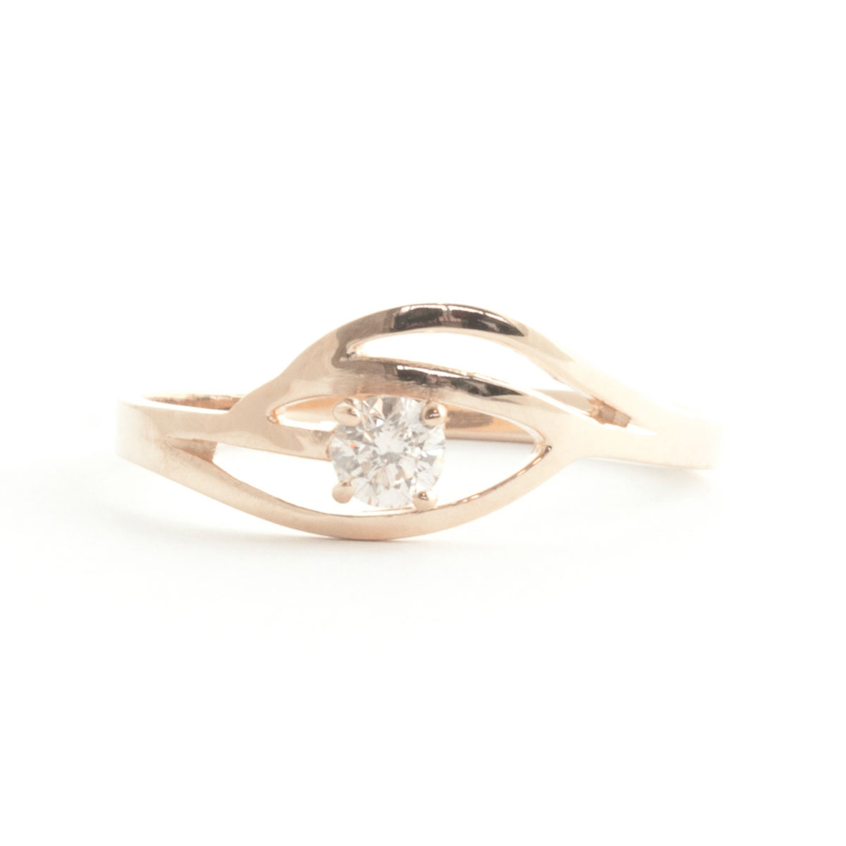 Round Cut Diamond Ring 0.15 ct in 18ct Rose Gold
