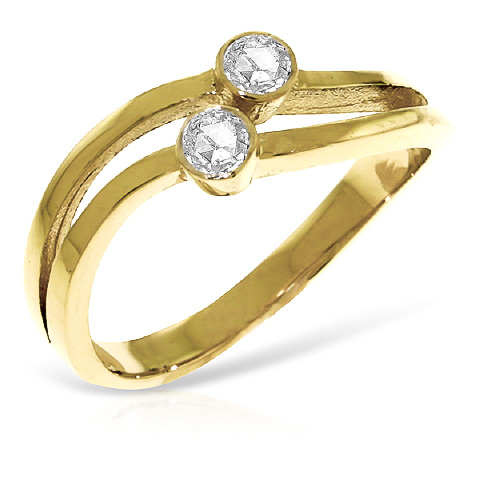 Round Cut Diamond Ring 0.2 ctw in 18ct Gold