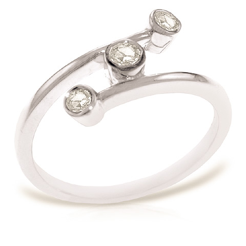 Round Cut Diamond Ring 0.3 ctw in 18ct White Gold