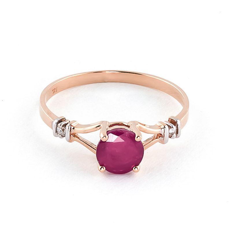 Ruby & Diamond Aspire Ring in 18ct Rose Gold