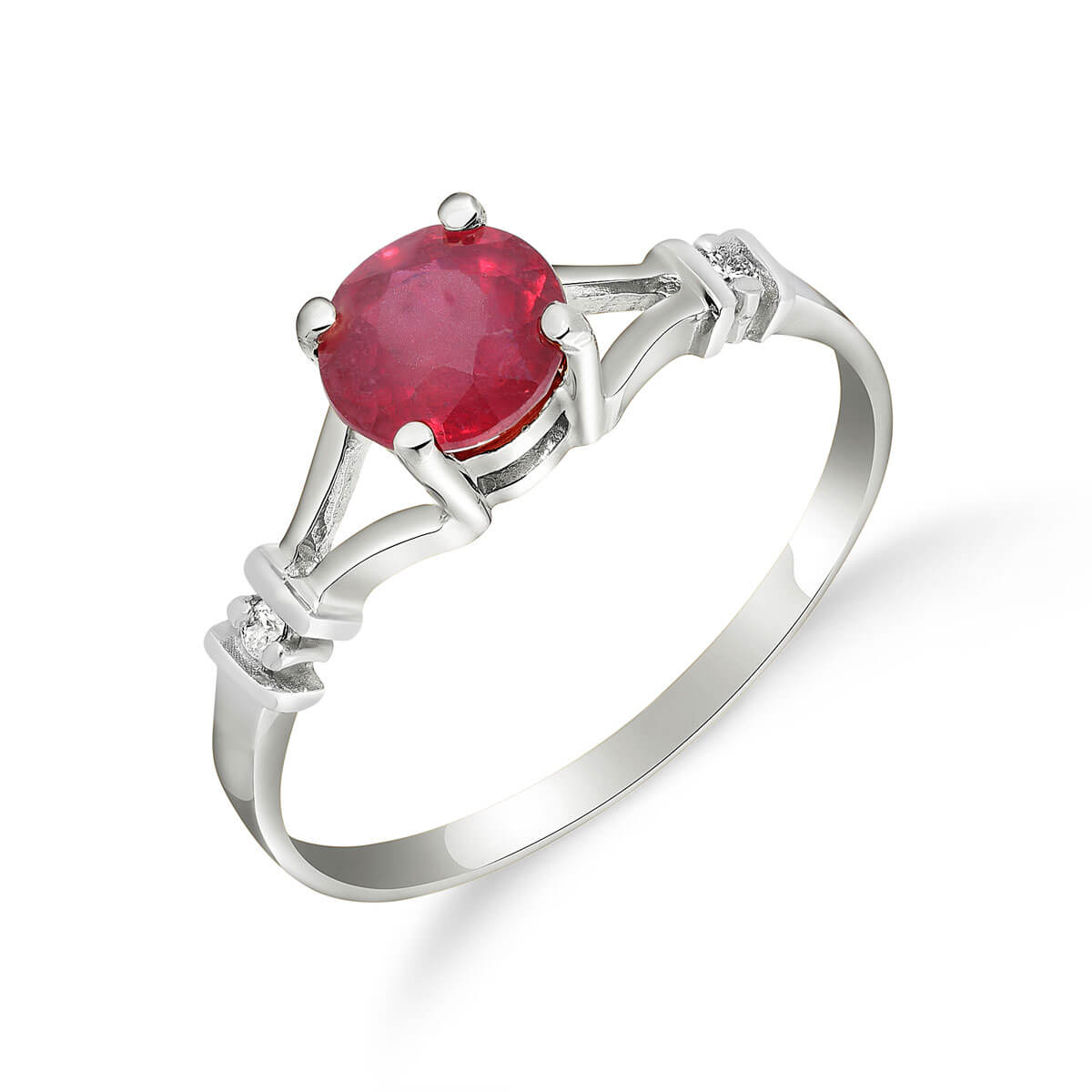 Ruby & Diamond Aspire Ring in 18ct White Gold
