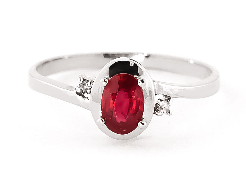 Ruby & Diamond Meridian Ring in 18ct White Gold