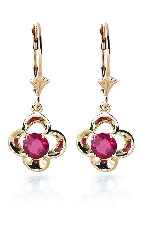 Ruby Corona Drop Earrings 1.1 ctw in 9ct Gold