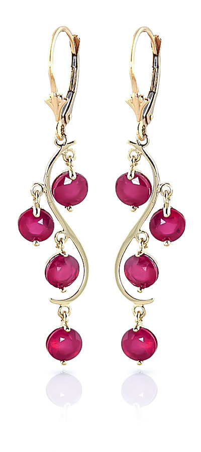 Ruby Dream Catcher Drop Earrings 4 ctw in 9ct Gold