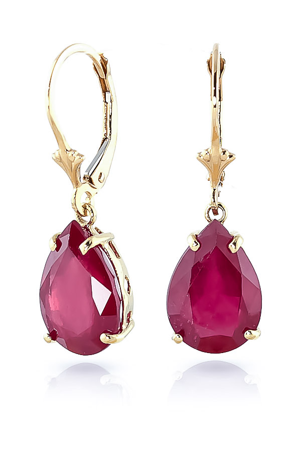 Ruby Drop Earrings 10 ctw in 9ct Gold