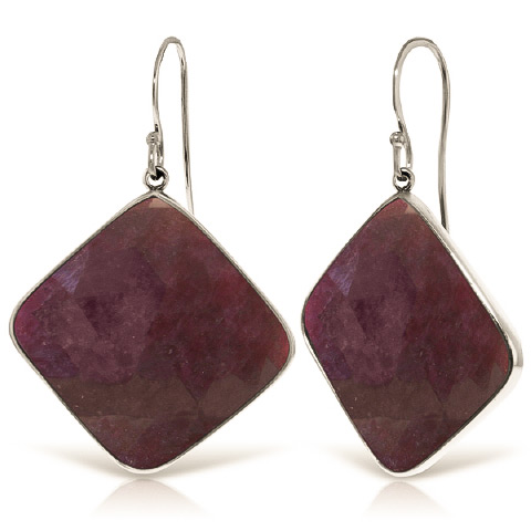 Ruby Drop Earrings 40.5 ctw in 9ct White Gold