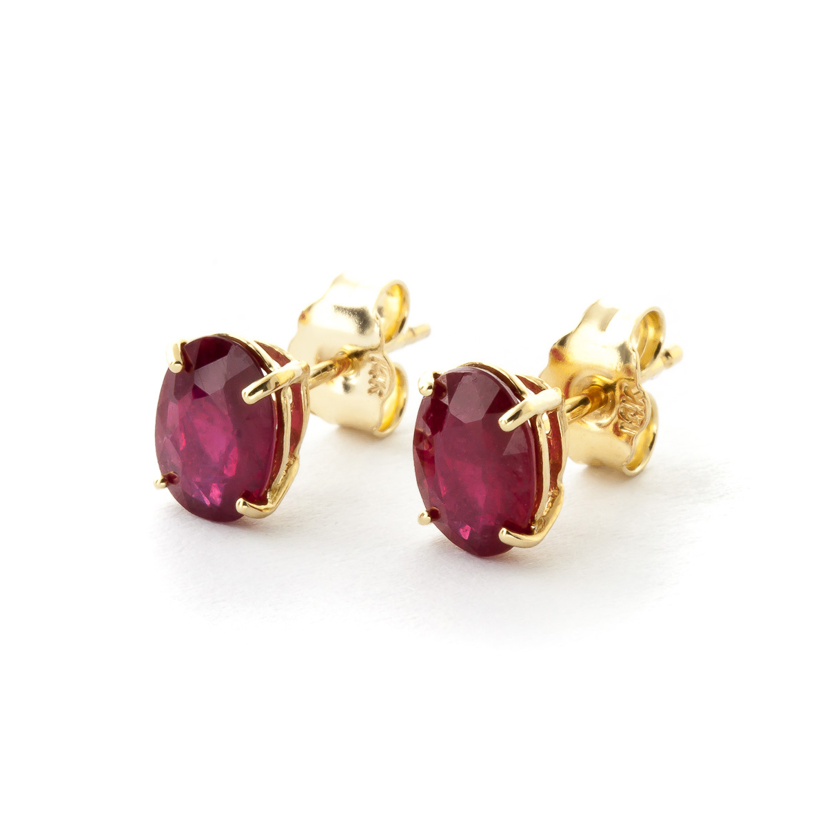 Ruby Stud Earrings 1.8 ctw in 9ct Gold