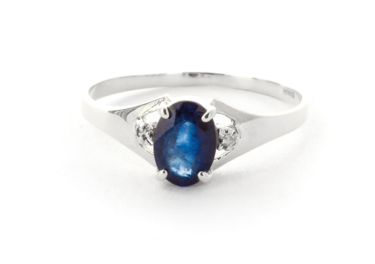 Sapphire & Diamond Desire Ring in 18ct White Gold
