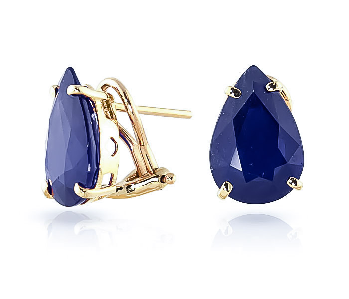 Sapphire Droplet Stud Earrings 9.3 ctw in 9ct Gold