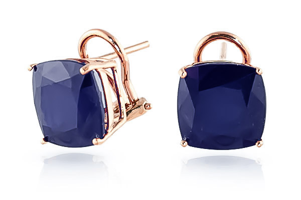Sapphire Stud Earrings 9.66 ctw in 9ct Rose Gold