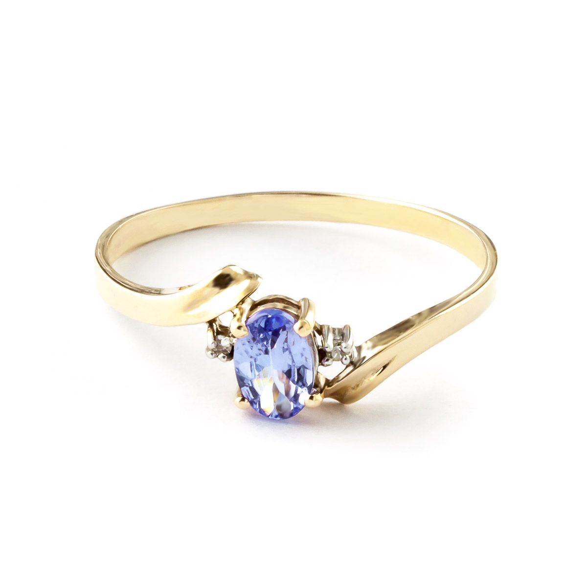 Tanzanite & Diamond Embrace Ring in 18ct Gold