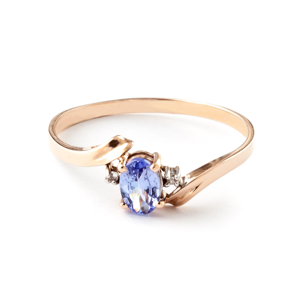 Tanzanite & Diamond Embrace Ring in 9ct Rose Gold
