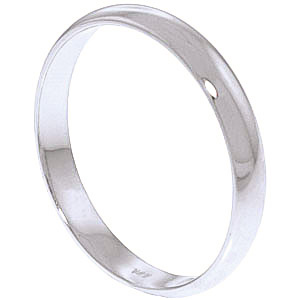 Wedding Ring in 18ct White Gold