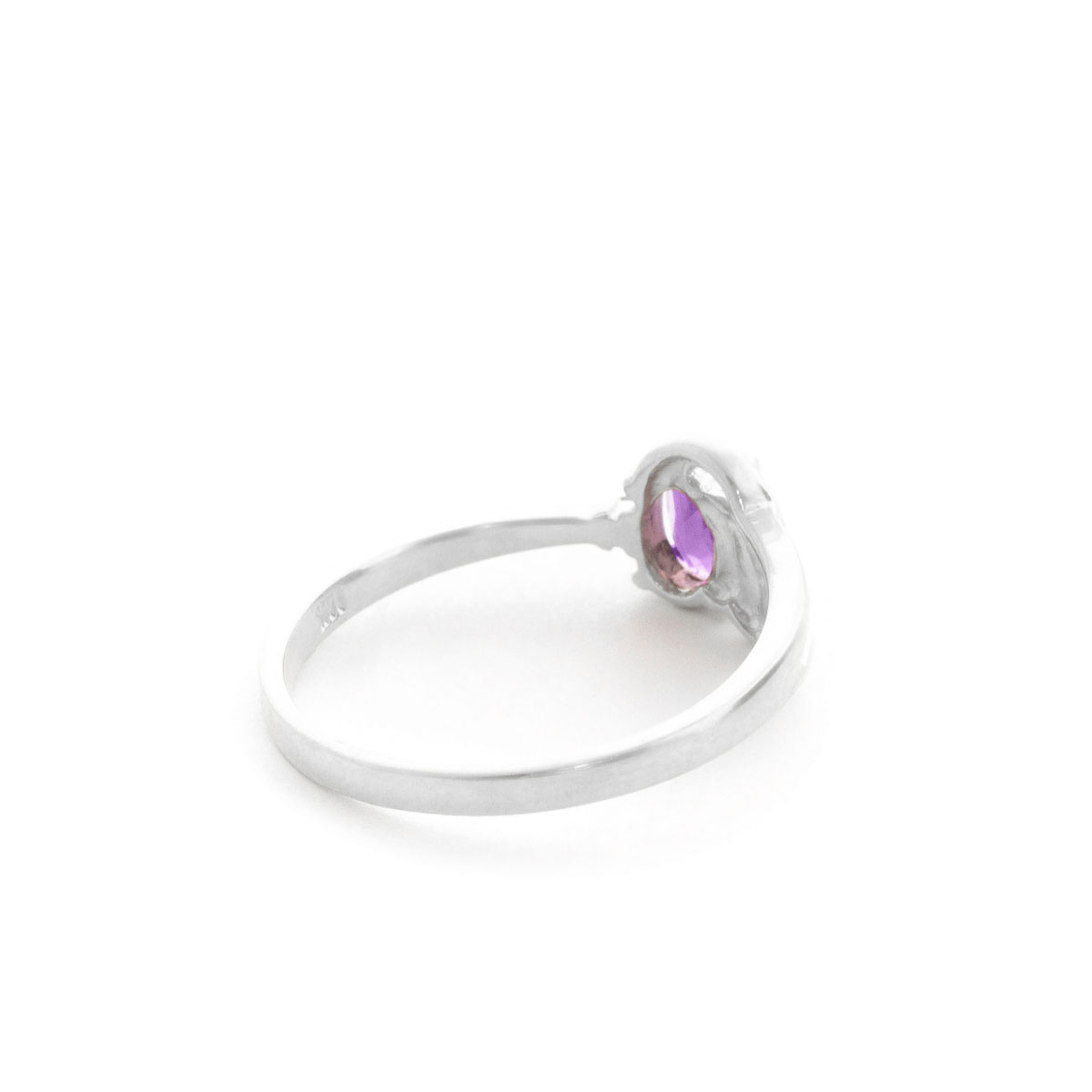 Amethyst & Diamond Angel Ring in 9ct White Gold