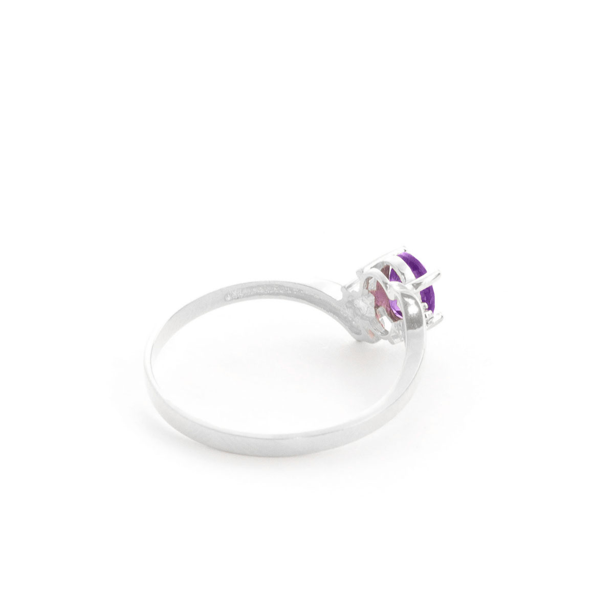 Amethyst & Diamond Embrace Ring in 9ct White Gold