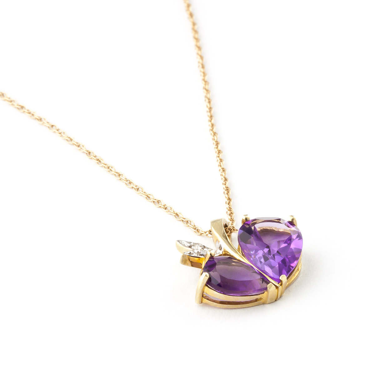 Amethyst & Diamond Eternal Pendant Necklace in 9ct Gold