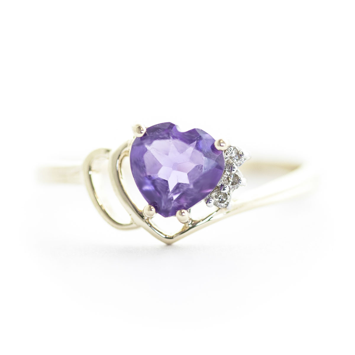 Amethyst & Diamond Passion Ring in 9ct Gold