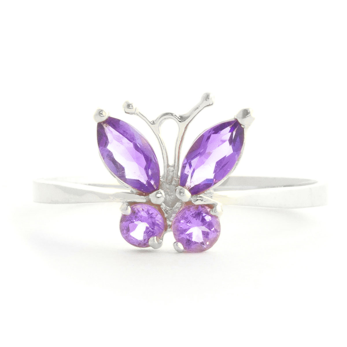 Amethyst Butterfly Ring 0.6 ctw in Sterling Silver
