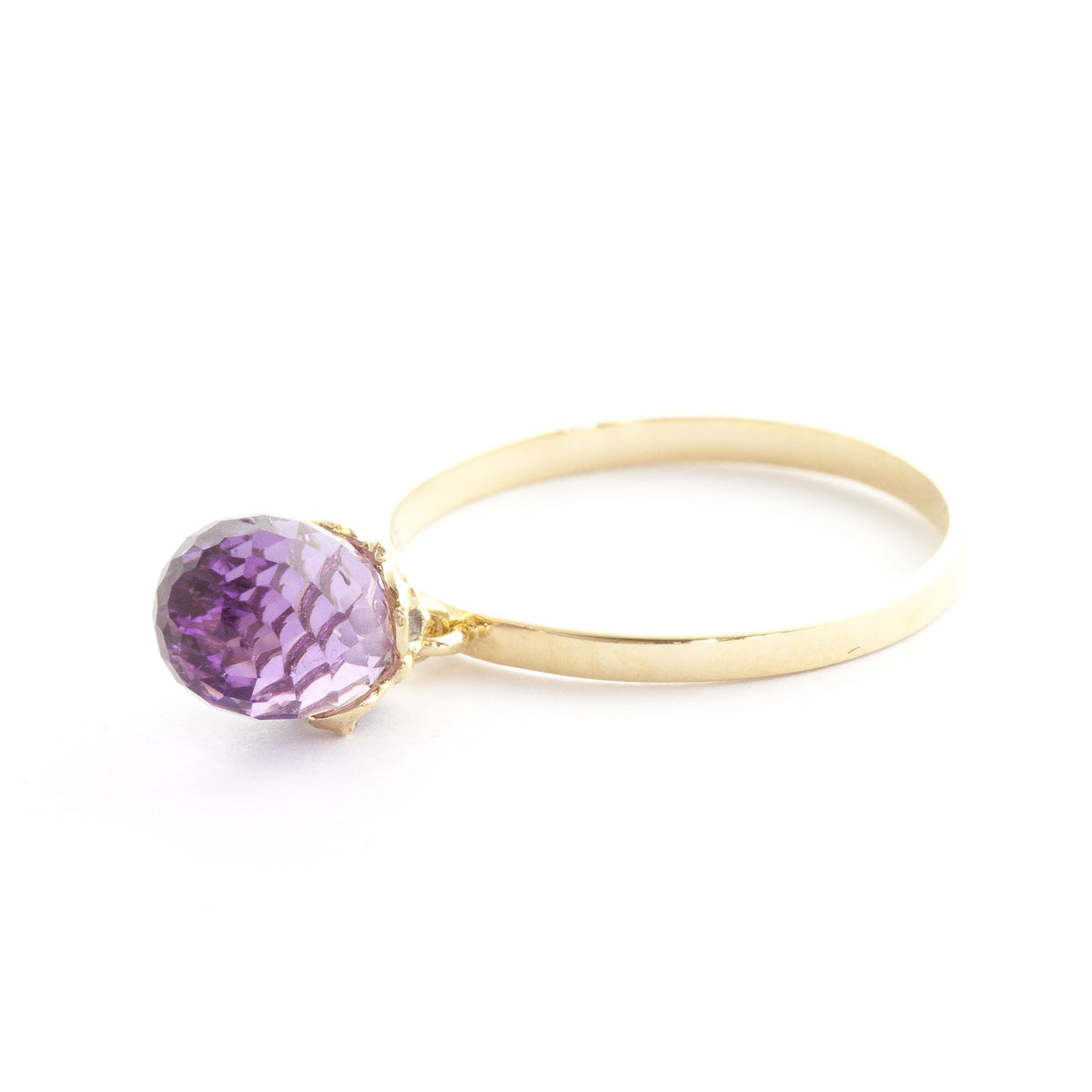 Amethyst Crown Ring 3 ct in 9ct Gold