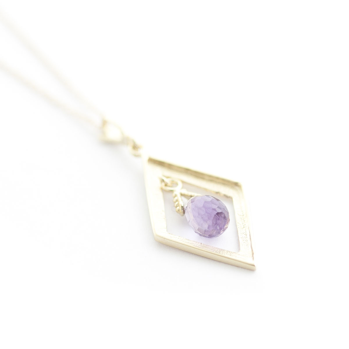 Amethyst Kite Pendant Necklace 0.7 ct in 9ct Gold