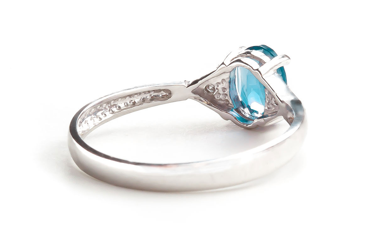 Blue Topaz & Diamond Allure Ring in Sterling Silver