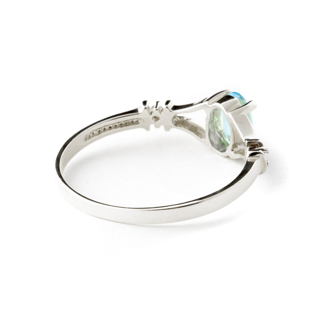 Blue Topaz & Diamond Aspire Ring in 9ct White Gold